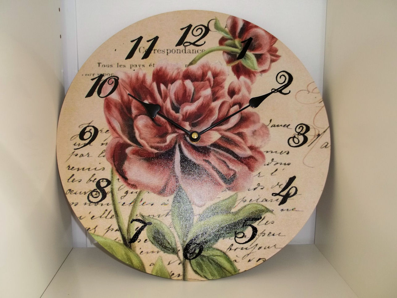 Carte Postal French Shabby Chic Country Style Floral Wall